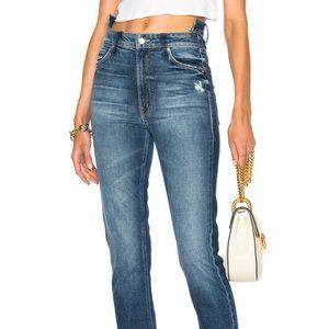 MOTHER Dazzler Shift Crop Jean Size 29